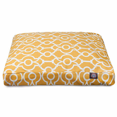 Majestic Pet Athens Rectangle Pet Bed, One Size , Yellow