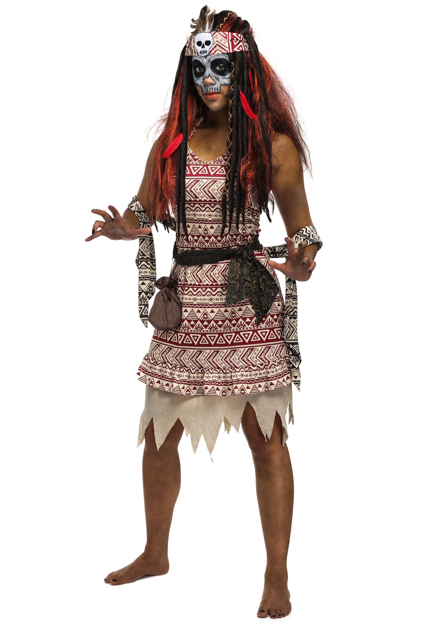 Womens Voodoo Witch Costume