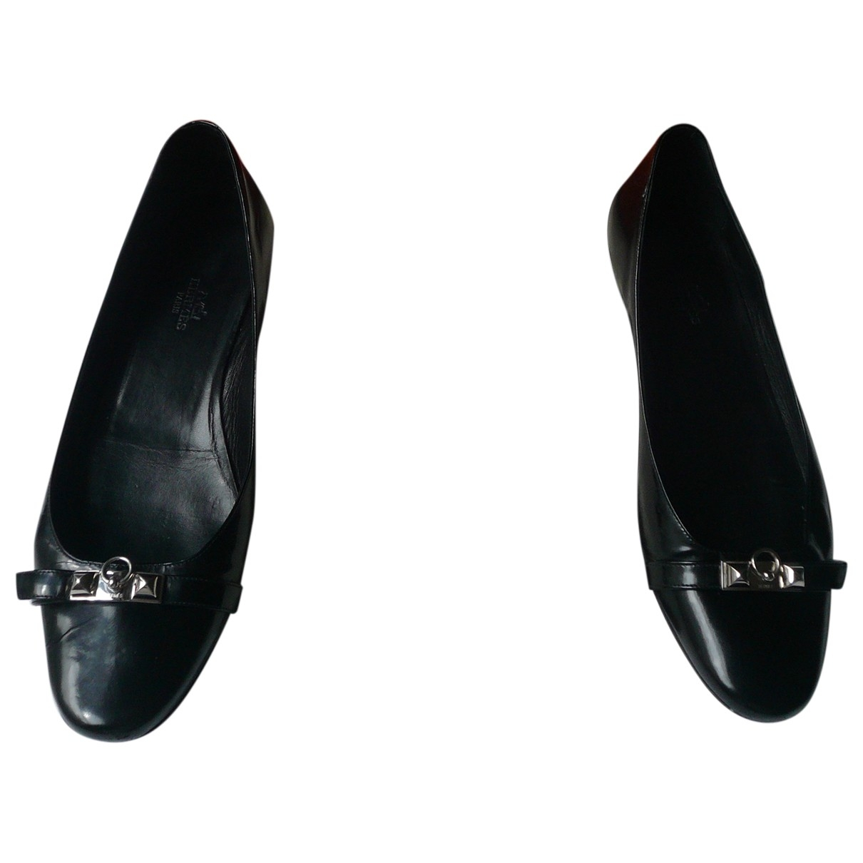 Hermès Liberty Black Leather Ballet flats for Women 40 IT