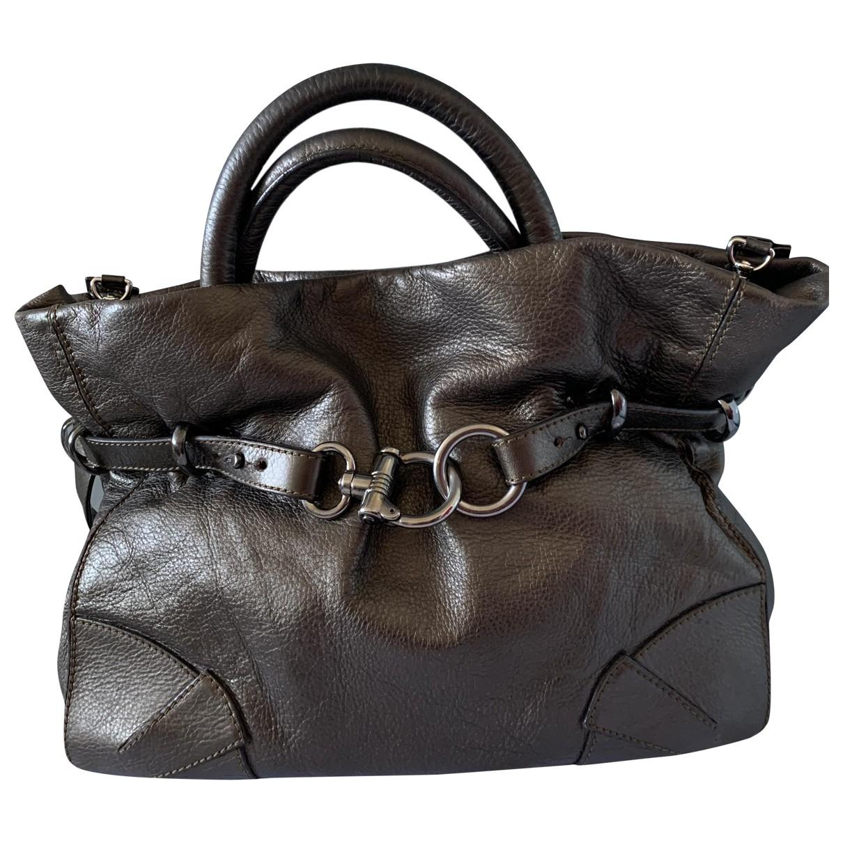 Sonia Rykiel Martha Brown Leather handbag for Women \N