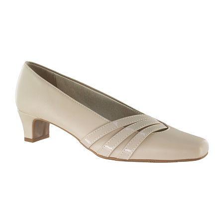 Easy Street Womens Entice Pumps Spike Heel, 6 1/2 Medium, Beige
