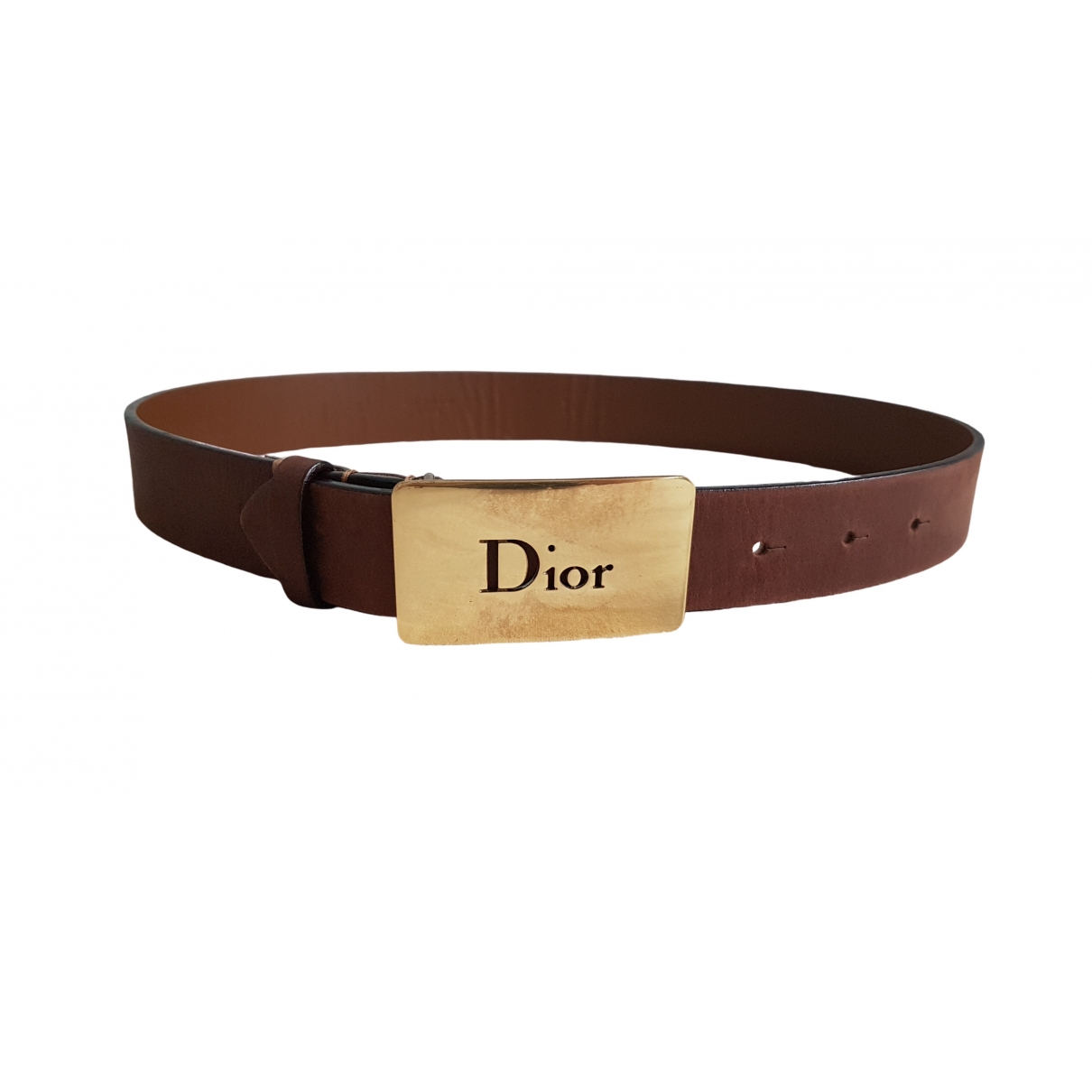Dior \N Brown Leather belt for Women 70 cm