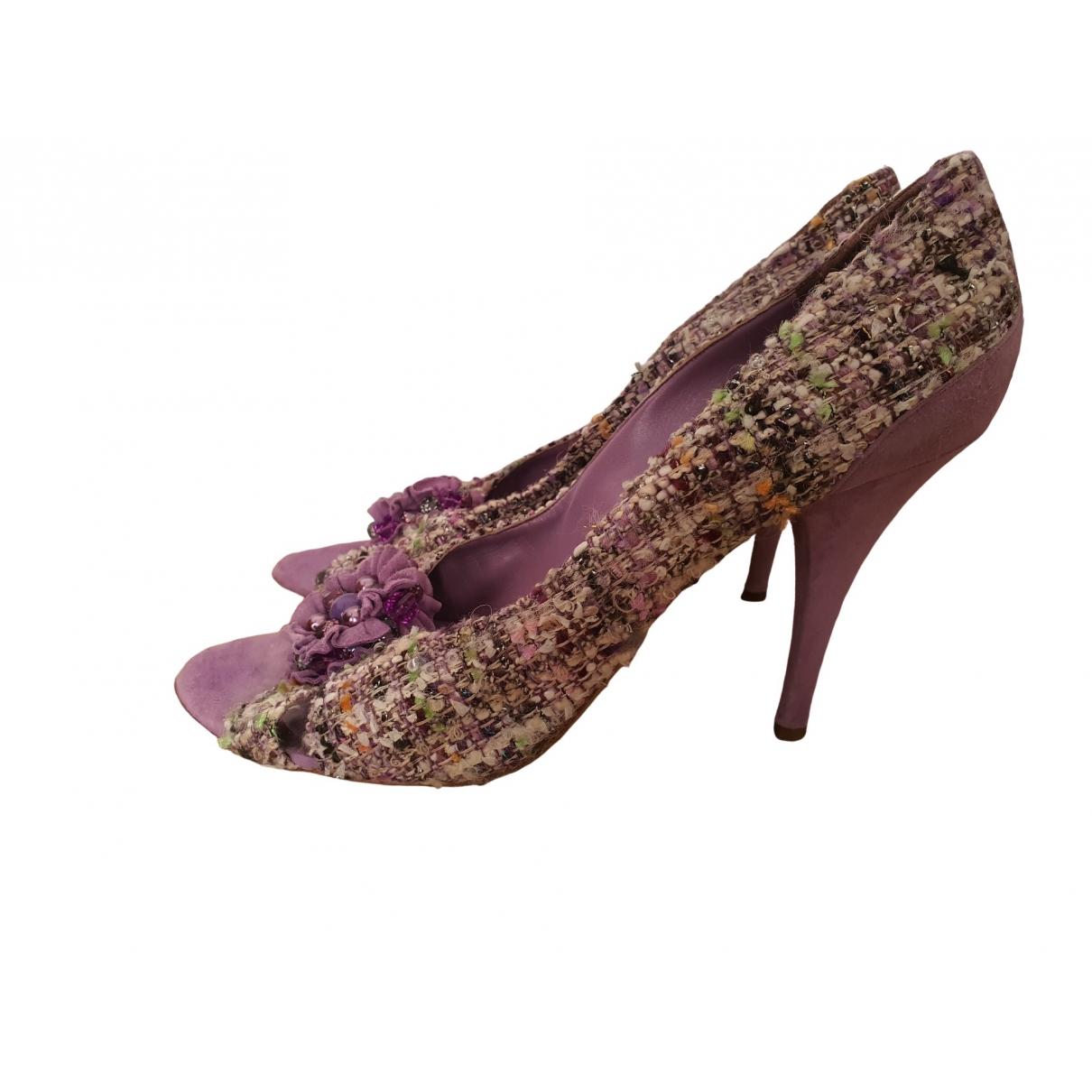 Moschino \N Purple Tweed Heels for Women 41 EU