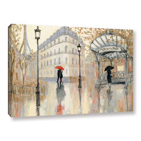 Brushstone To The Metro Gallery Wrapped Canvas Wall Art, One Size , Brown