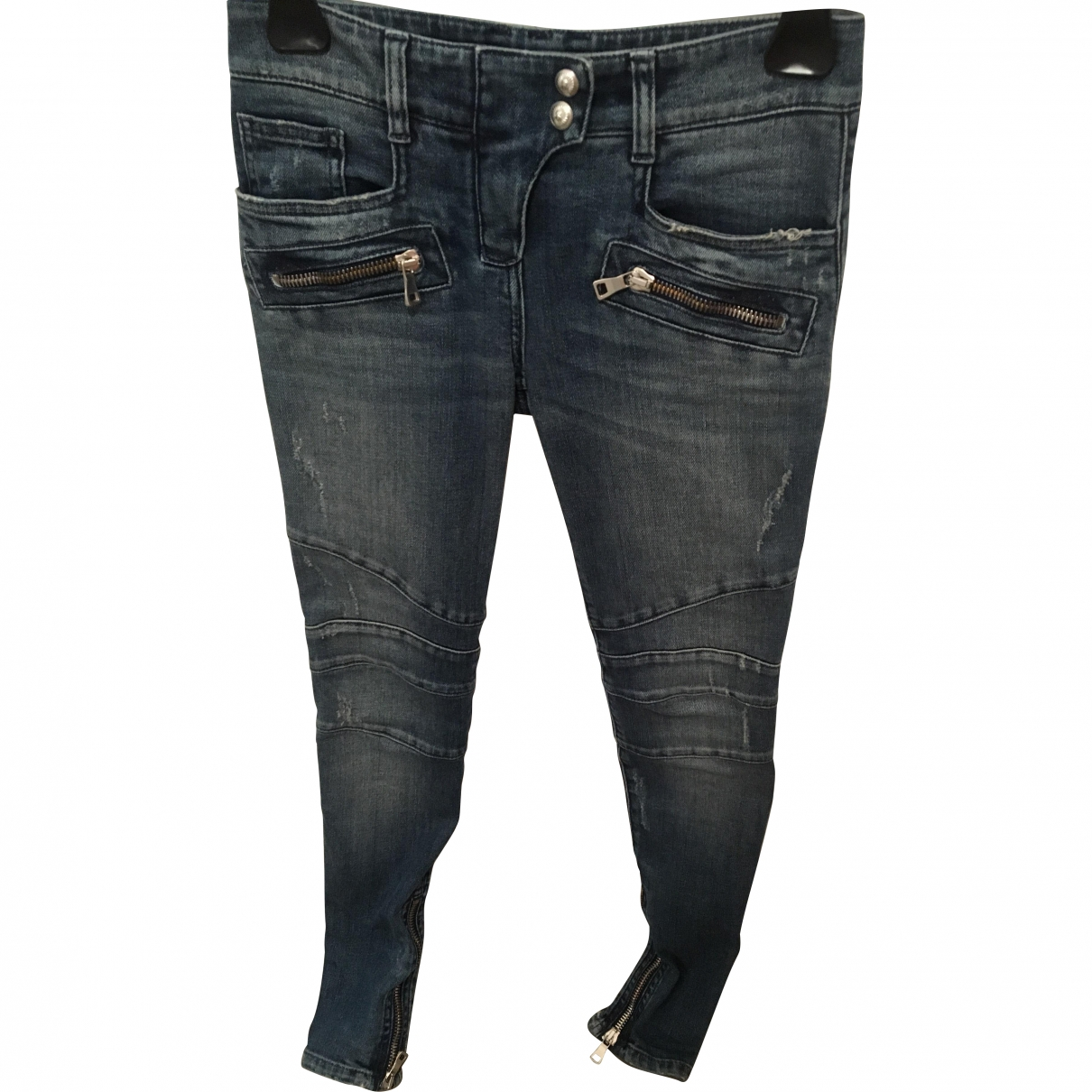 Balmain \N Blue Denim - Jeans Jeans for Women 34 FR