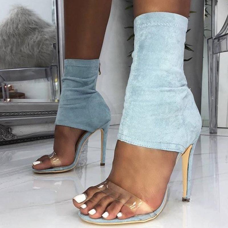 Ericdress Open Toe Zipper Heel Covering Thread Sandals