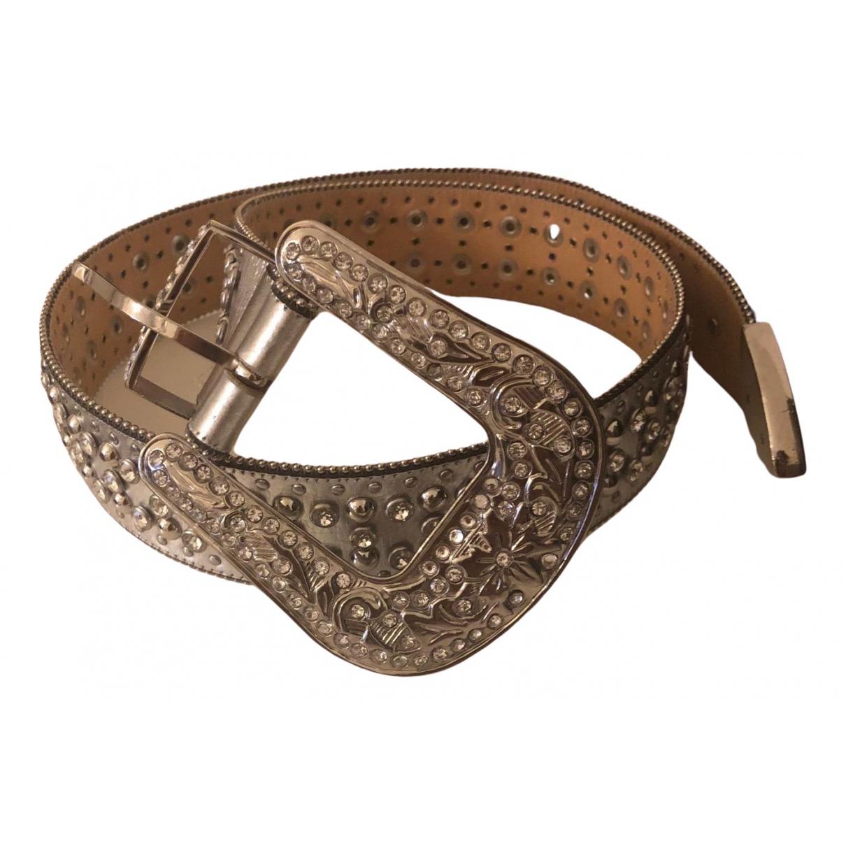 Philipp Plein \N Silver Leather belt for Women 85 cm