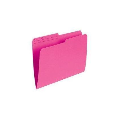 Pendaflex@ dossiers recycles color es r eversibles, 100 dossiers par boite - rose, lettre 486233