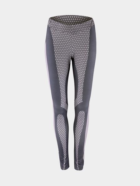 Yoins Grey Fashion Print Pattern Bodycon Legging