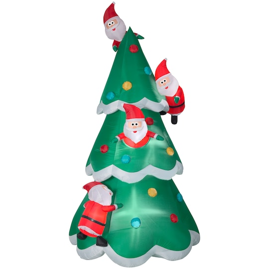 8.9Ft Airblown® Inflatable Christmas Tree Of Many Santas By Gemmy Industries | Michaels®