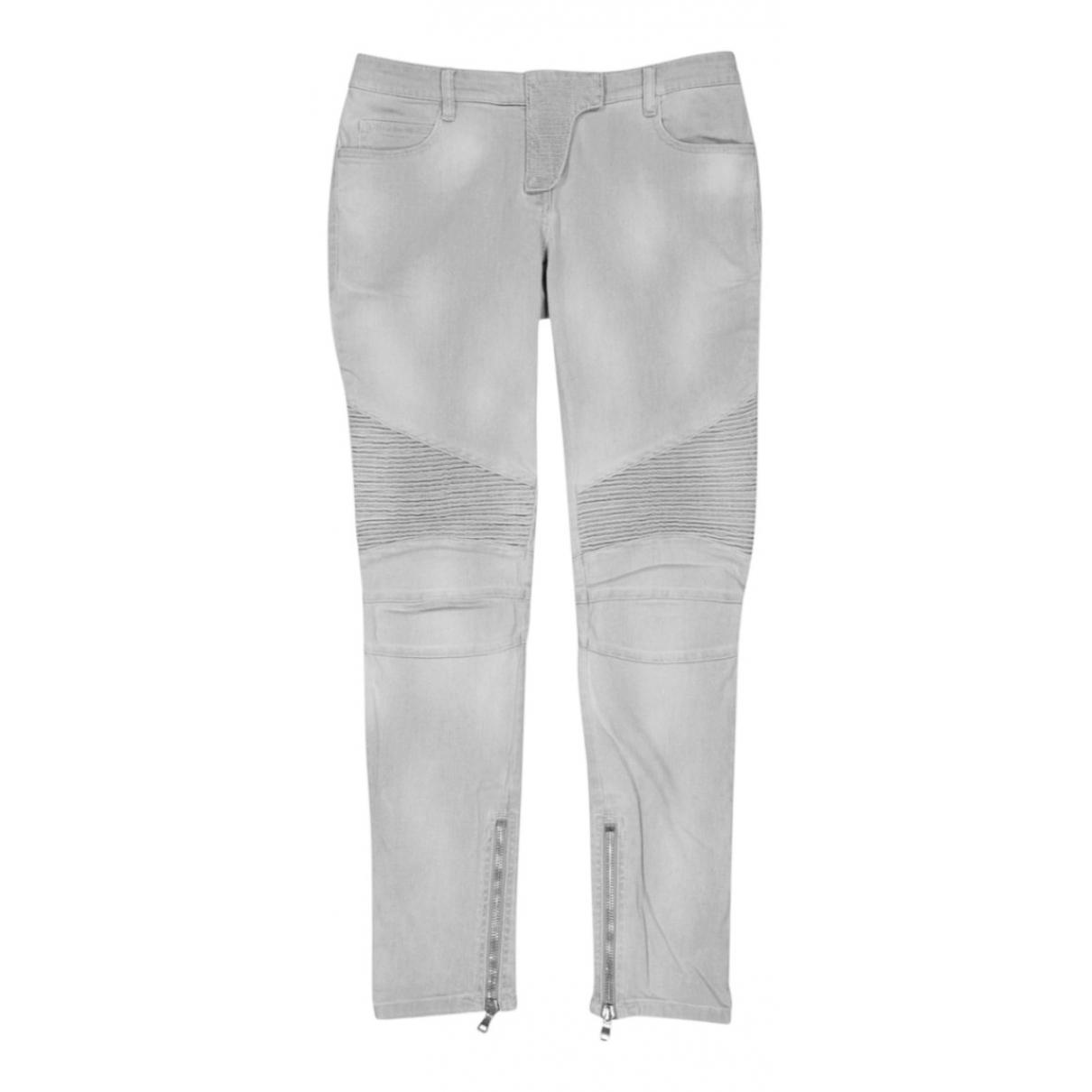 Balmain \N Grey Cotton - elasthane Jeans for Women 25 US