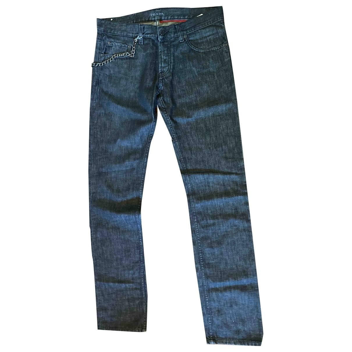 Prada \N Anthracite Cotton Jeans for Men 31 US