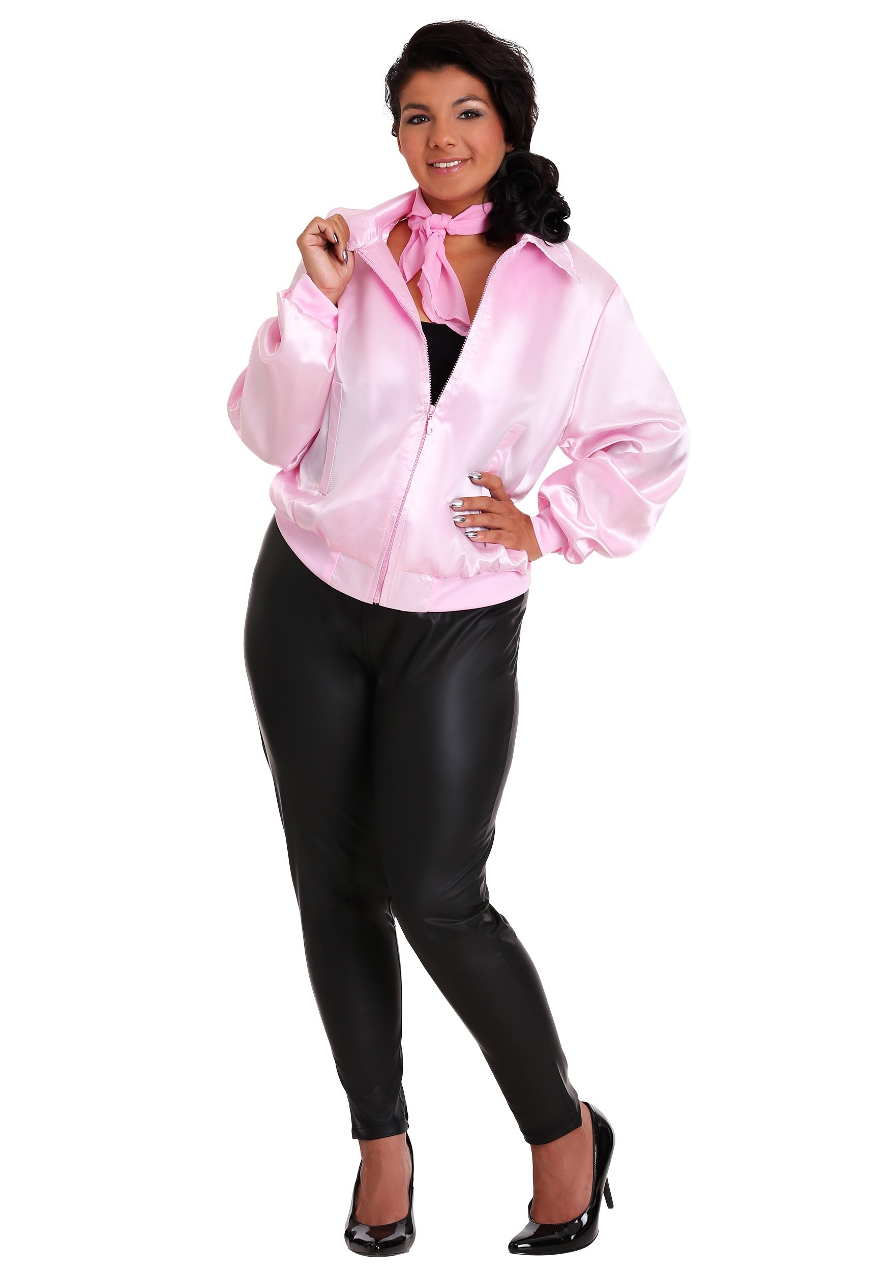 Plus Size Grease Pink Ladies Costume Jacket | Musical Costume