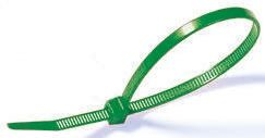 HellermannTyton , LR55 Series Green Nylon Releasable Cable Tie, 195mm x 4.7 mm
