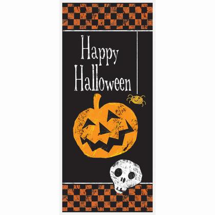 Checkered Halloween Door Poster, 27