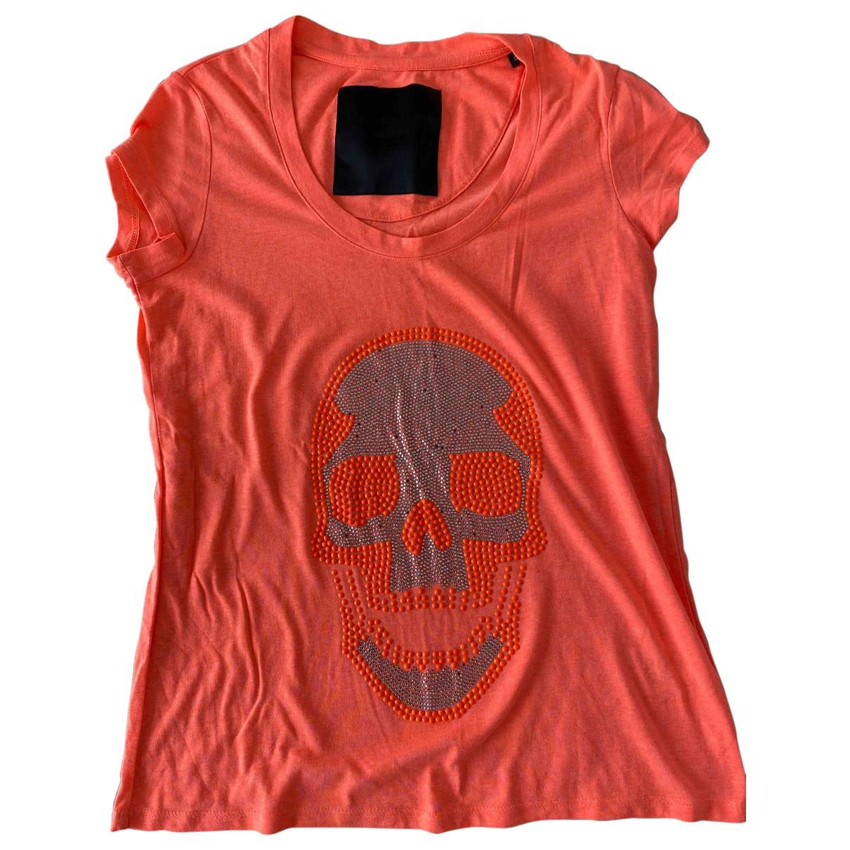 Philipp Plein \N Orange Cotton  top for Women S International