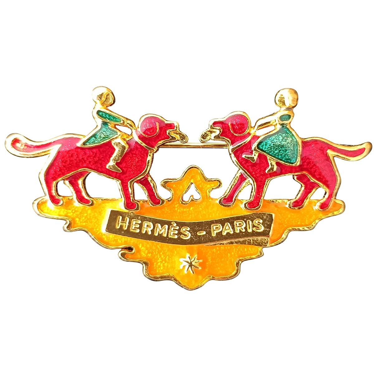 Hermès \N Gold Metal Pins & brooches for Women \N