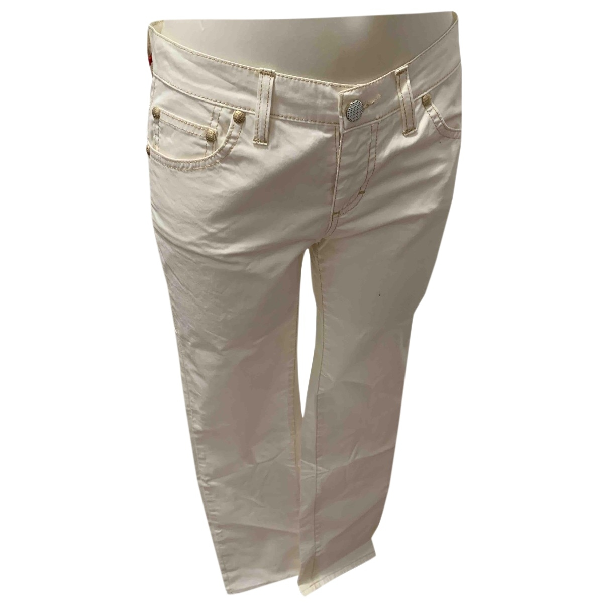 Holiday \N White Cotton Jeans for Women 42 IT