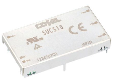 Cosel 12W Isolated DC-DC Converter Through Hole, Voltage in 18 → 36 V dc, Voltage out 12V dc