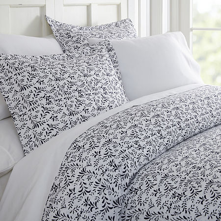 Casual Comfort Premium Ultra Soft 3 Piece Burst of Vines Print Duvet Cover Set, One Size , Blue