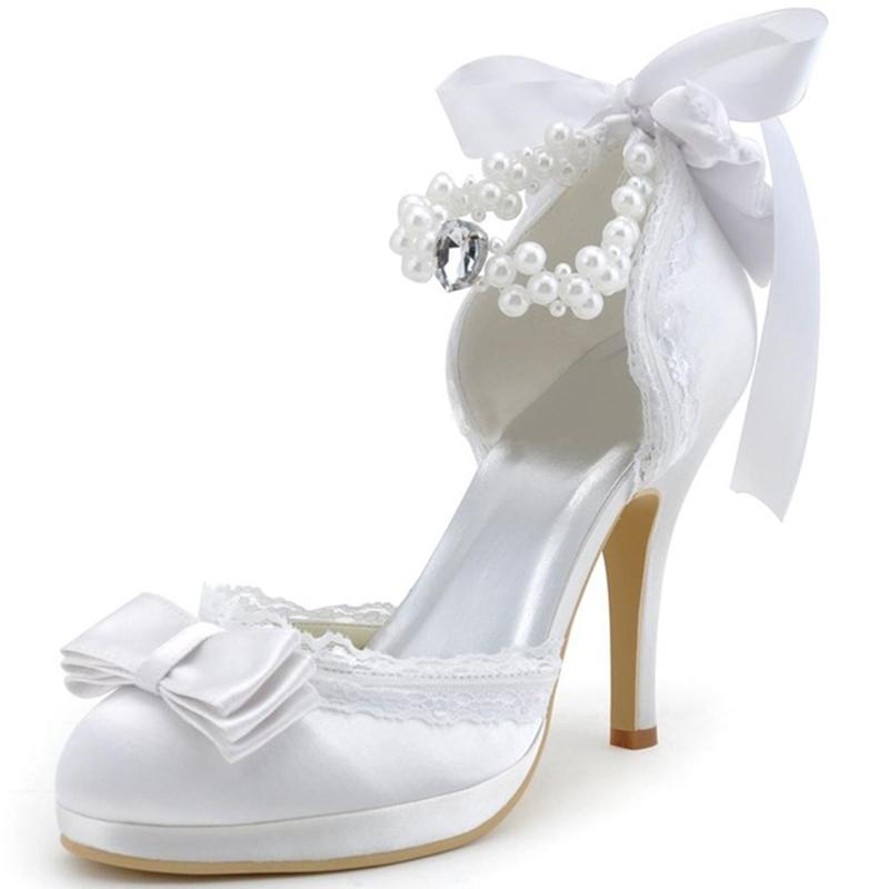 Ericdress Charming Bowtie Ribbon Wedding Shoes