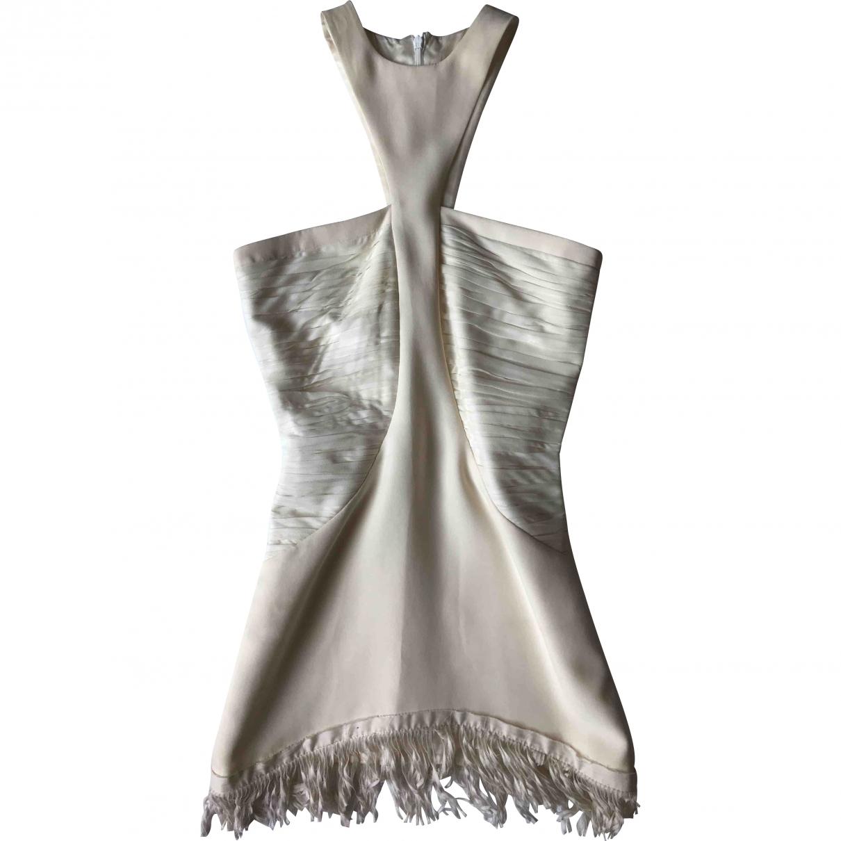 Versace \N White Silk dress for Women 38 IT