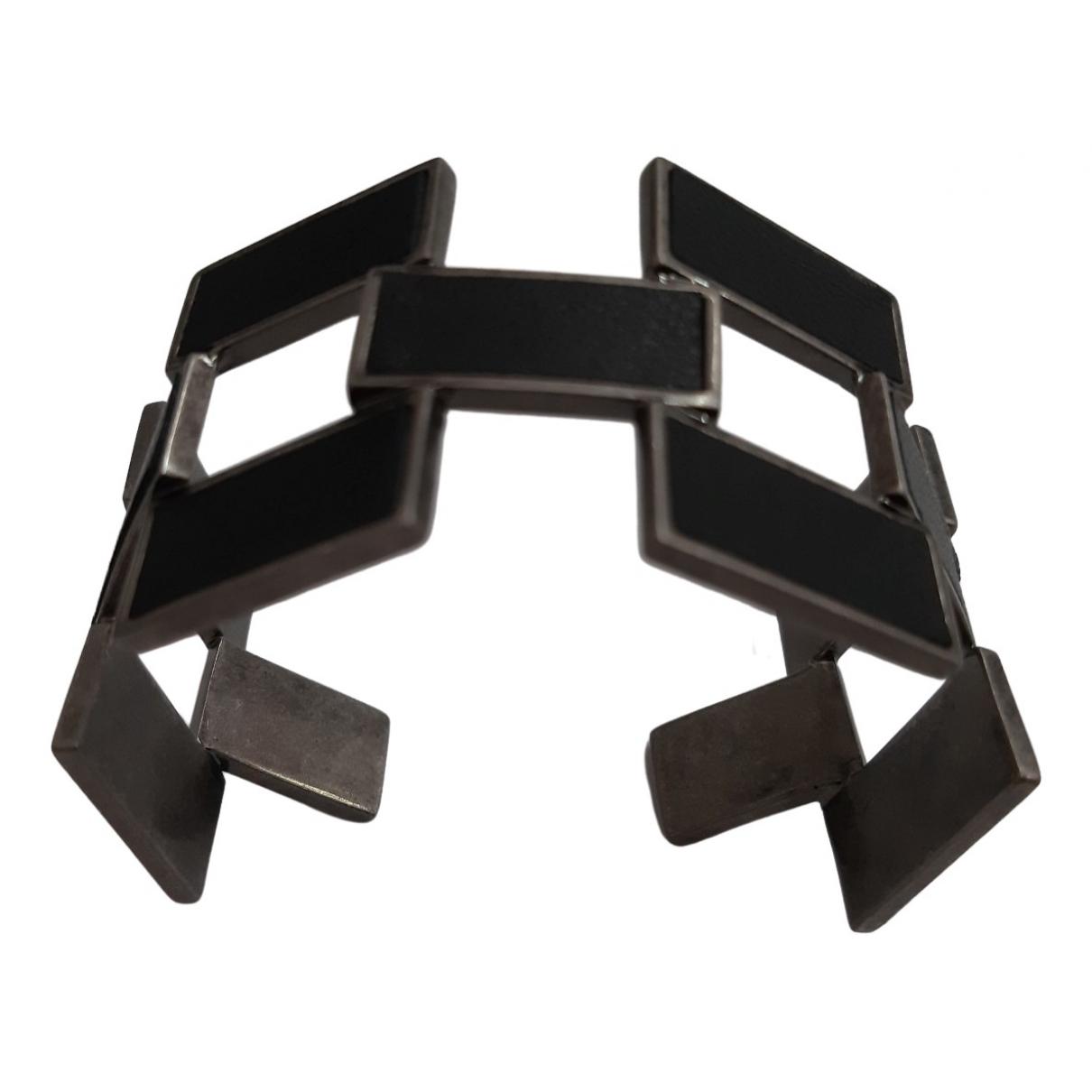 Saint Laurent \N Black Metal bracelet for Women \N