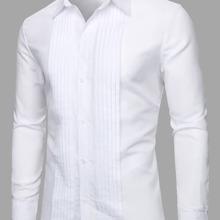 Men Pleated Button Through Shirt