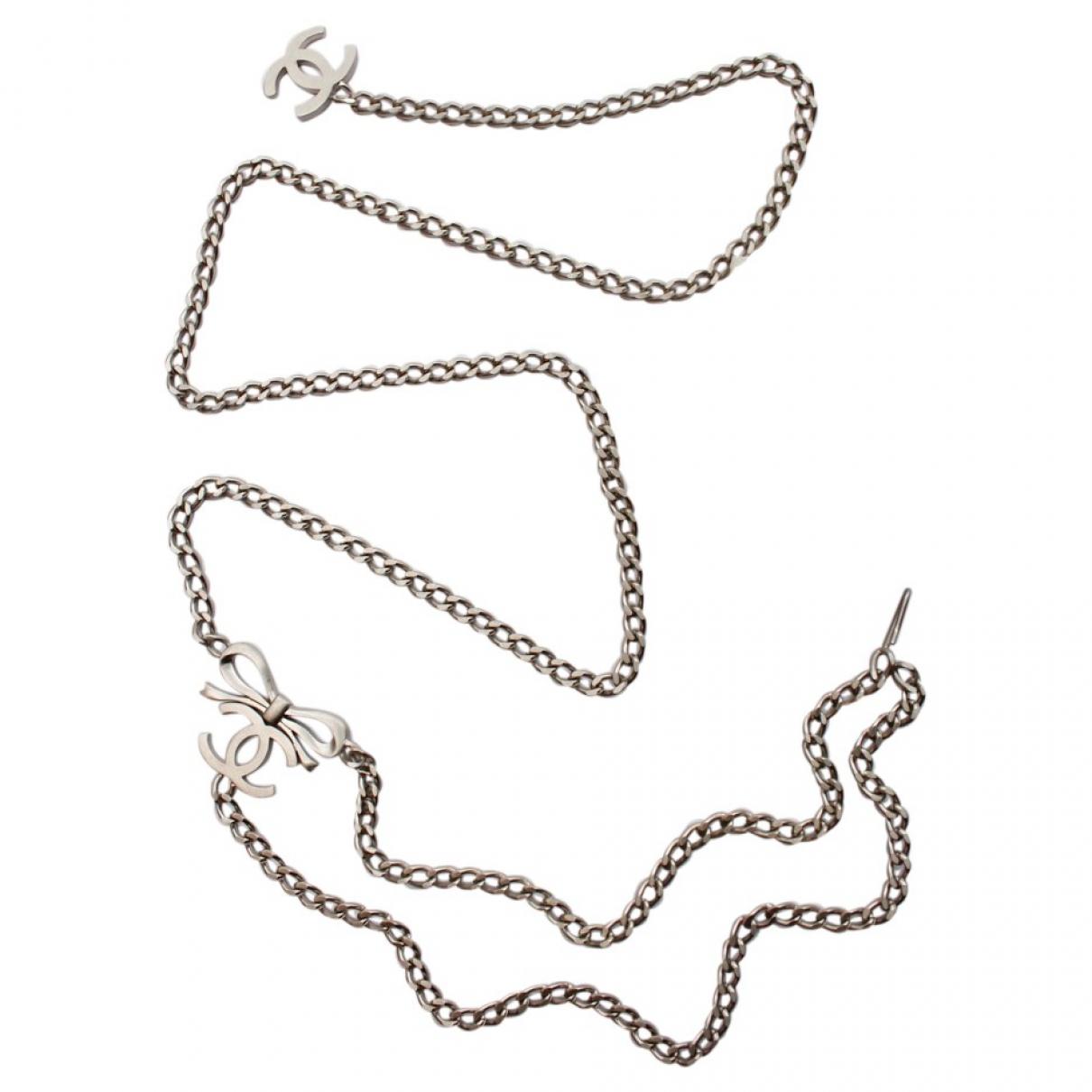 Chanel \N Silver Metal belt for Women 90 cm