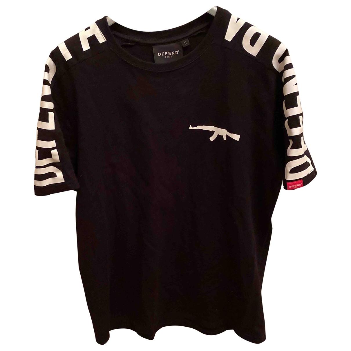 Defend Paris \N Black Cotton T-shirts for Men S International