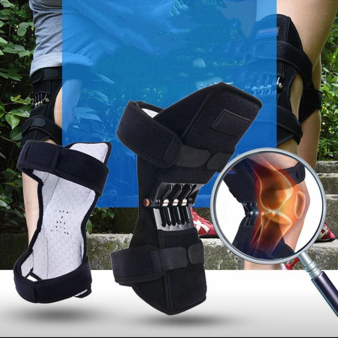 Knee Booster Spring Knee Pad Breathable Knee Booster Protector Joint Relief Pain Deep Care