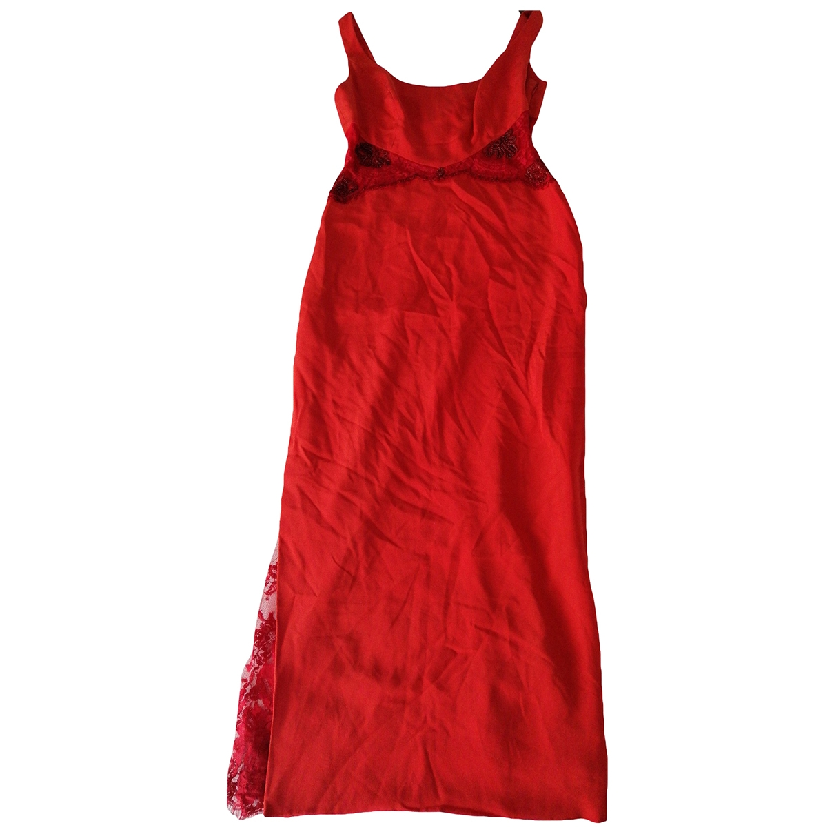 Non Signé / Unsigned \N Red Silk dress for Women M International