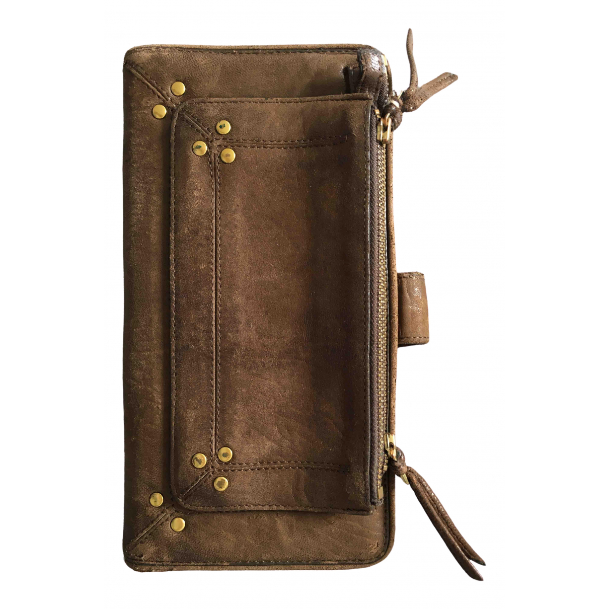 Jerome Dreyfuss \N Brown Leather wallet for Women \N