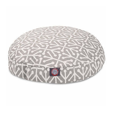 Majestic Pet Aruba Round Pet Bed, One Size , Gray