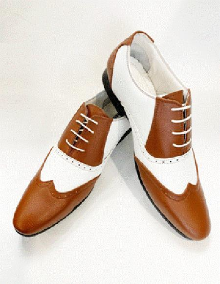 Coffee ~ Light Brown ~ Dark Camel Cognac Wingtip Leather Shoe Lace up