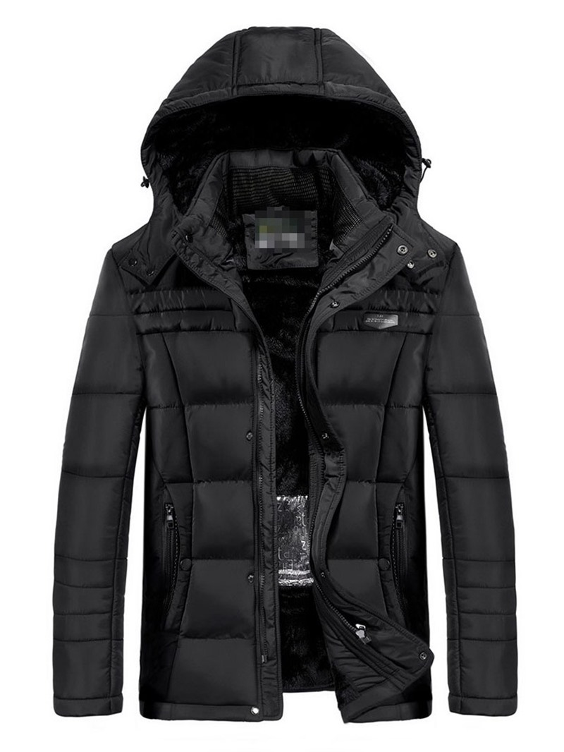 Ericdress Plain Zipper Hooded Casual Men's Down Jacket