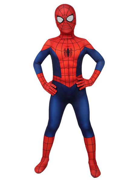 Milanoo Marvel Comics Spider-Man Cosplay Spider Man Lycra Spandex Ture Red Film Marvel Cosplay Comics