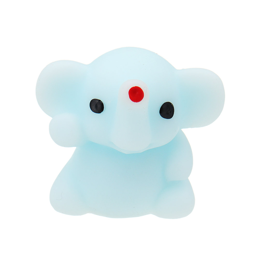 Blue Small Nose Elephant Squishy Squeeze Kawaii Collection Stress Reliever Gift Decor