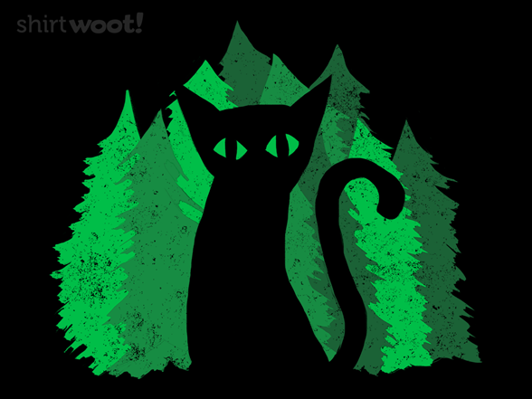 Black Cat Forest T Shirt
