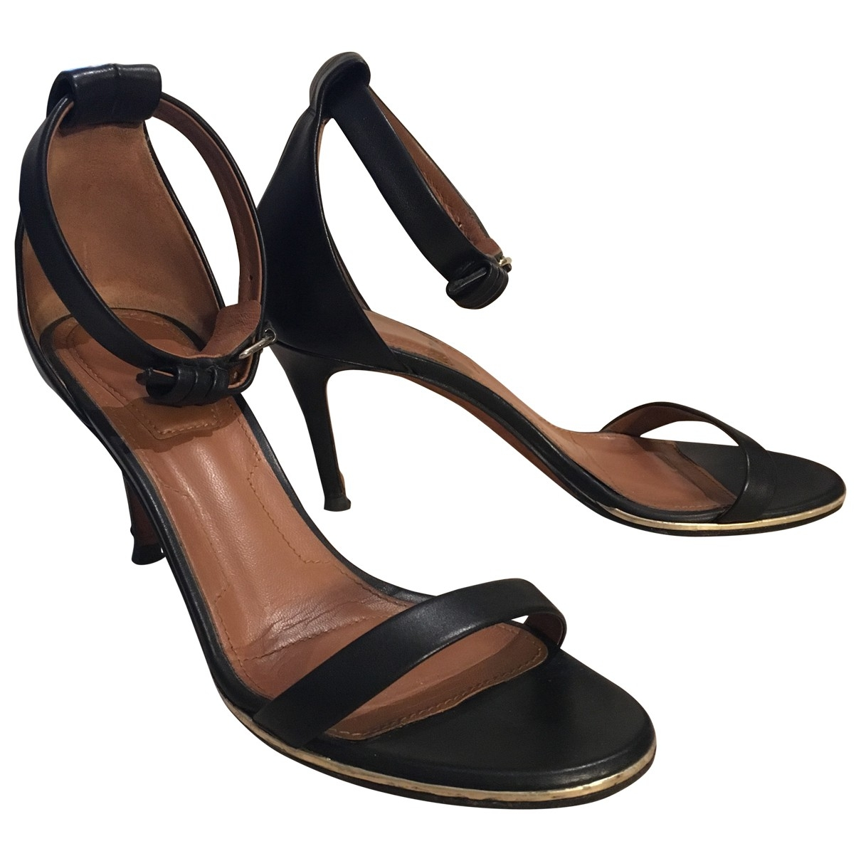 Givenchy \N Black Leather Sandals for Women 36 EU