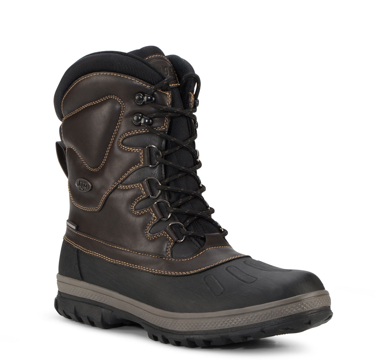 Men's Anorak 8-Inch Waterproof Boot (Choose Your Color: CAROB/OTTER/BLACK, Choose Your Size: 8.5)