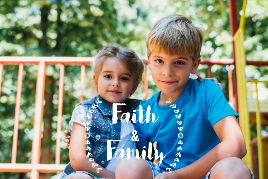 Family + Friends 20x30 Adhesive Poster, Home Décor -Faith And Family