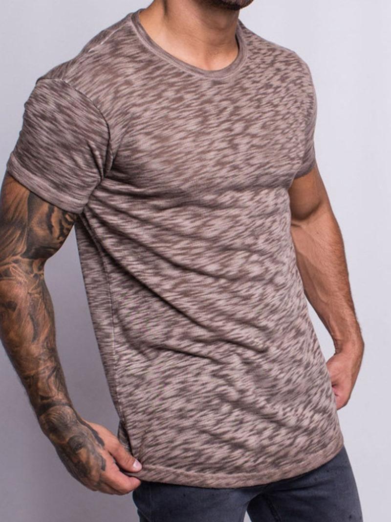 Ericdress Sports Round Neck Plain Short Sleeve Pullover T-shirt