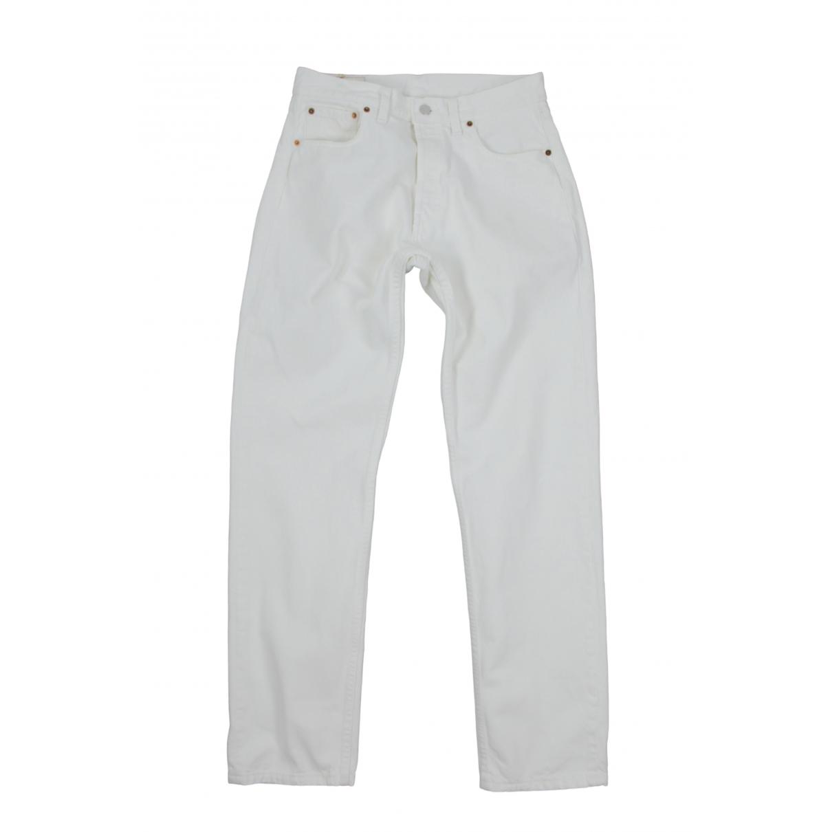 Levi's \N White Cotton Jeans for Men 32 US
