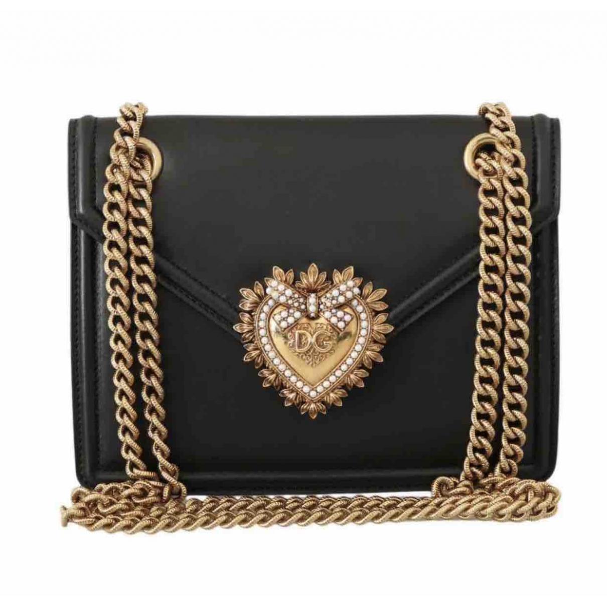 Dolce & Gabbana Devotion Black Leather handbag for Women \N
