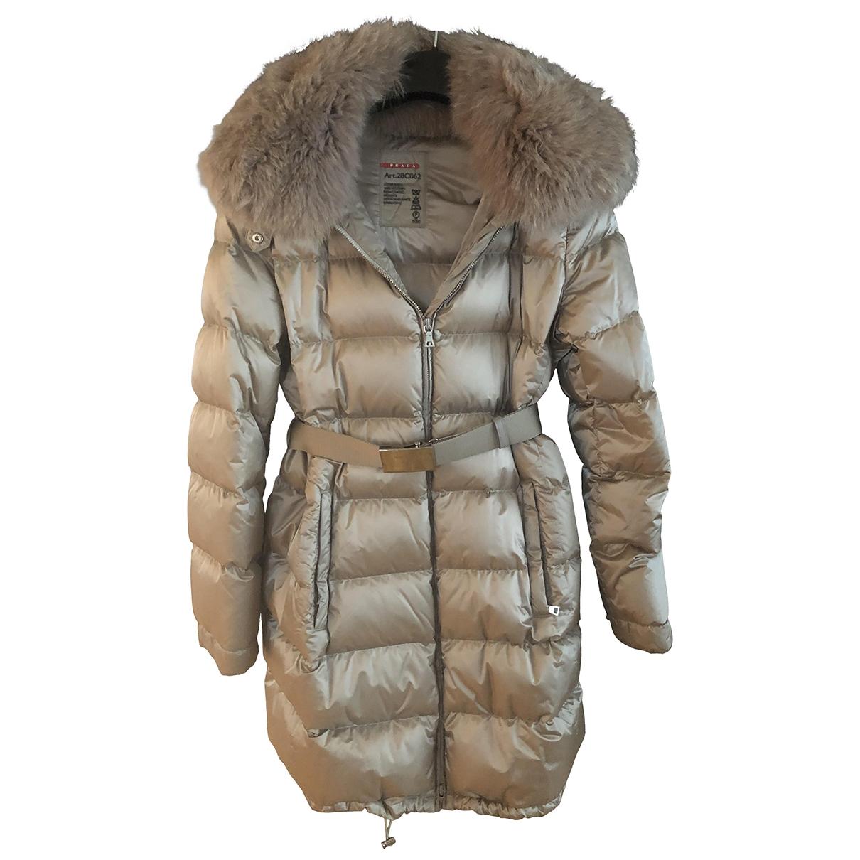 Prada \N Beige Fur coat for Women 44 IT
