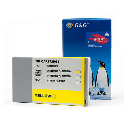 Compatible Epson Stylus Pro 9800 Ink Epson T563400 T562400 Yellow Pigment