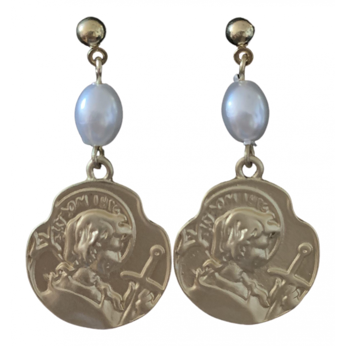 Non Signé / Unsigned Médailles Gold Metal Earrings for Women \N