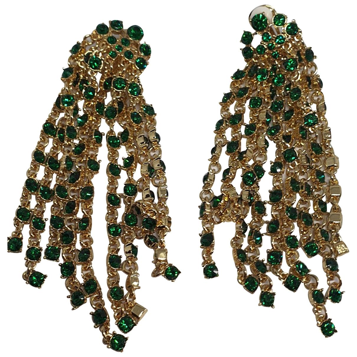 Oscar De La Renta \N Green Metal Earrings for Women \N