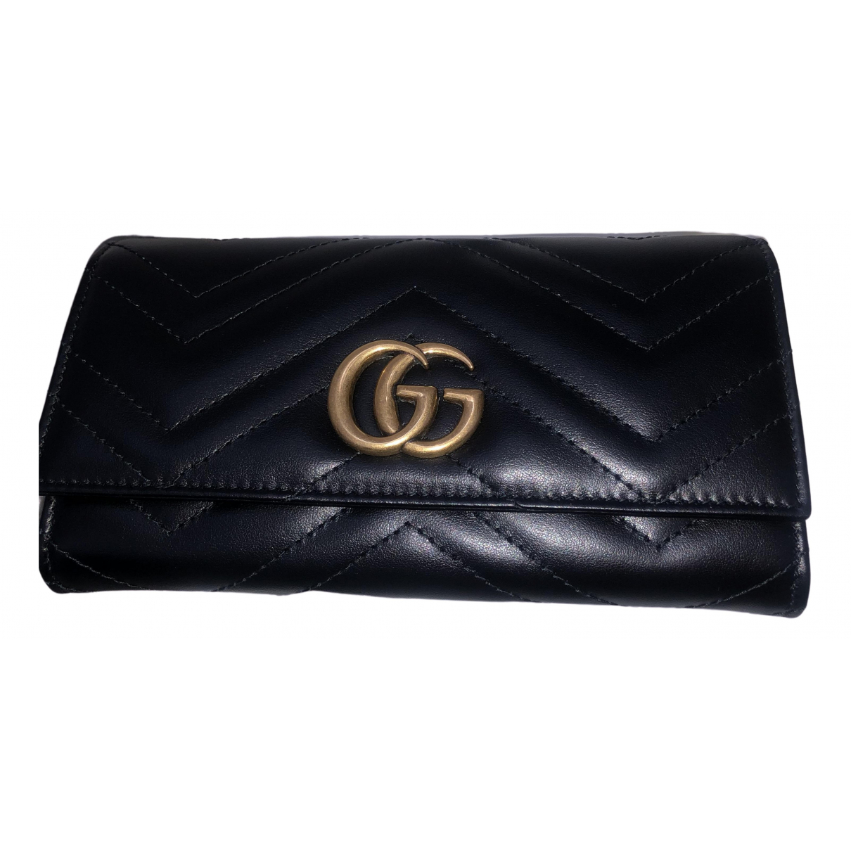Gucci Marmont Black Patent leather wallet for Women \N